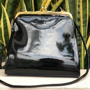 Vtg Jennifer Moore Patent Leather Handbag Purse